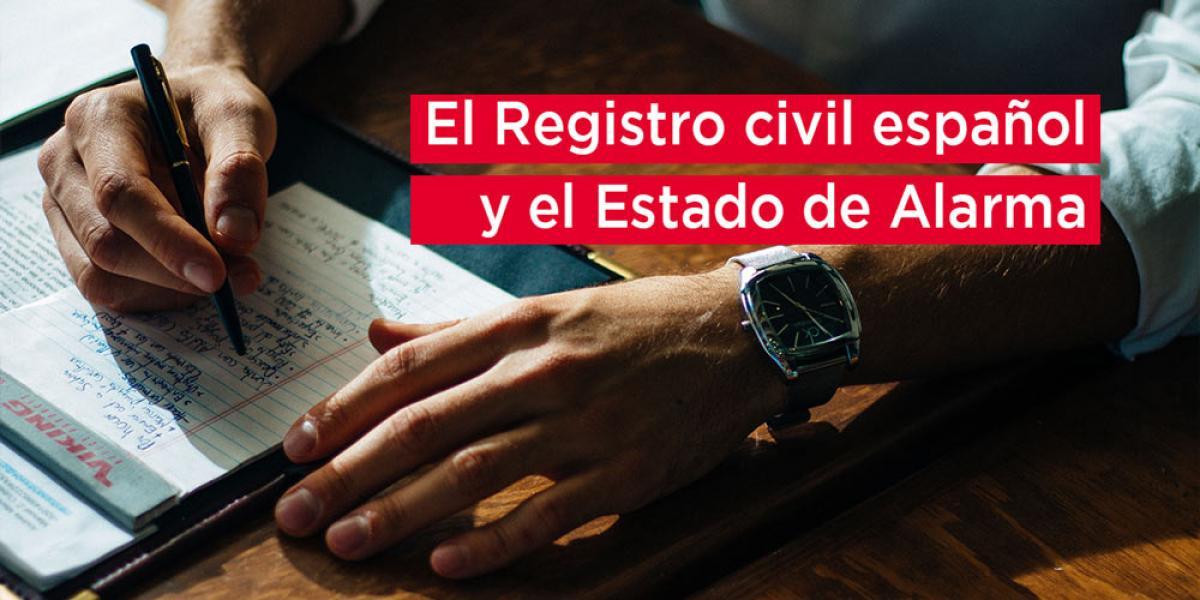 Registro civil durante el coronavirus