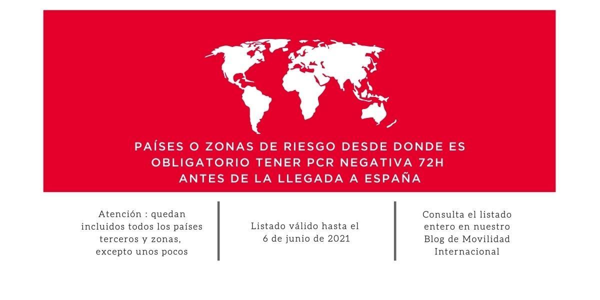 España exige PCR negativa para determinados viajeros