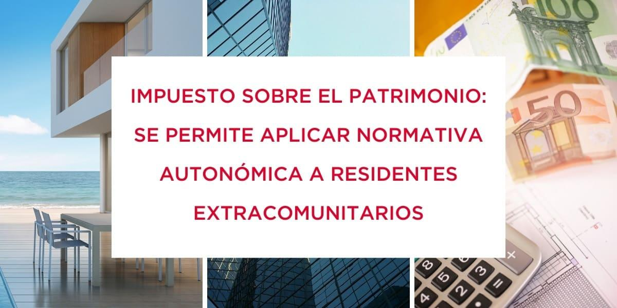 Se permite aplicar normativa autonómica a no residentes en el IP