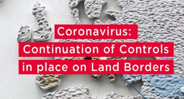 Continuation of controls in place on land borders in Spain because COVID19